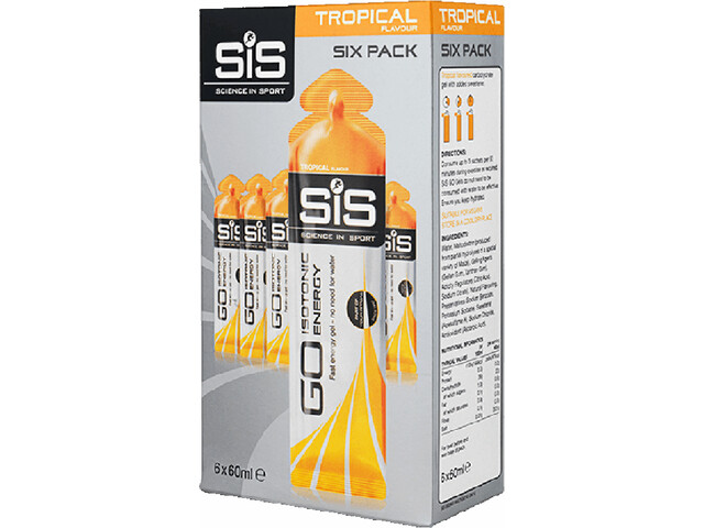 SiS GO Isotonic Energy Gel Six Pack 6x60ml Tropical